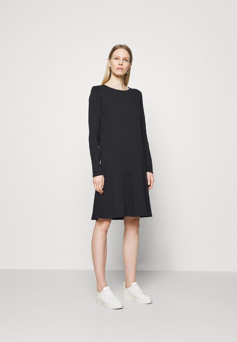 Marc O'Polo DENIM - LONGSLEEVE DRESS - Jersey dress - black