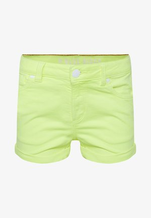 Denim shorts - bright yellow