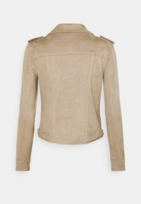 Vero Moda Tall - VMBOOSTBIKER JACKET - Faux leather jacket - silver mink