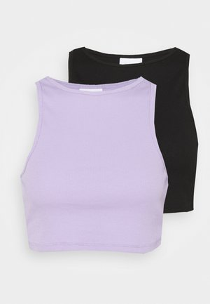 VIFELIA CROPPED TANK 2 PACK - Top - lavender/black