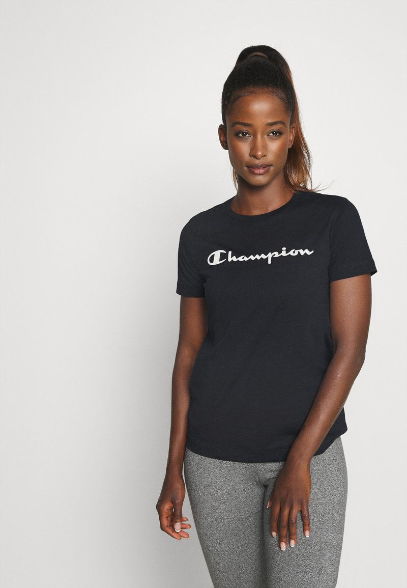 Champion - CREWNECK LEGACY - Print T-shirt - navy