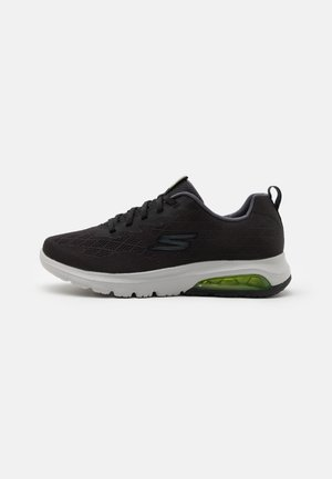 GO WALK AIR - Laufschuh Neutral - black/lime