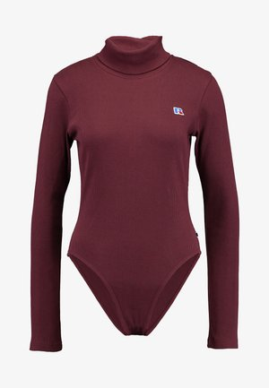 PIPER CROP TURTLE NECK  - Long sleeved top - tawny port