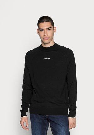 SUPERIOR MINI MOCK - Pullover - black