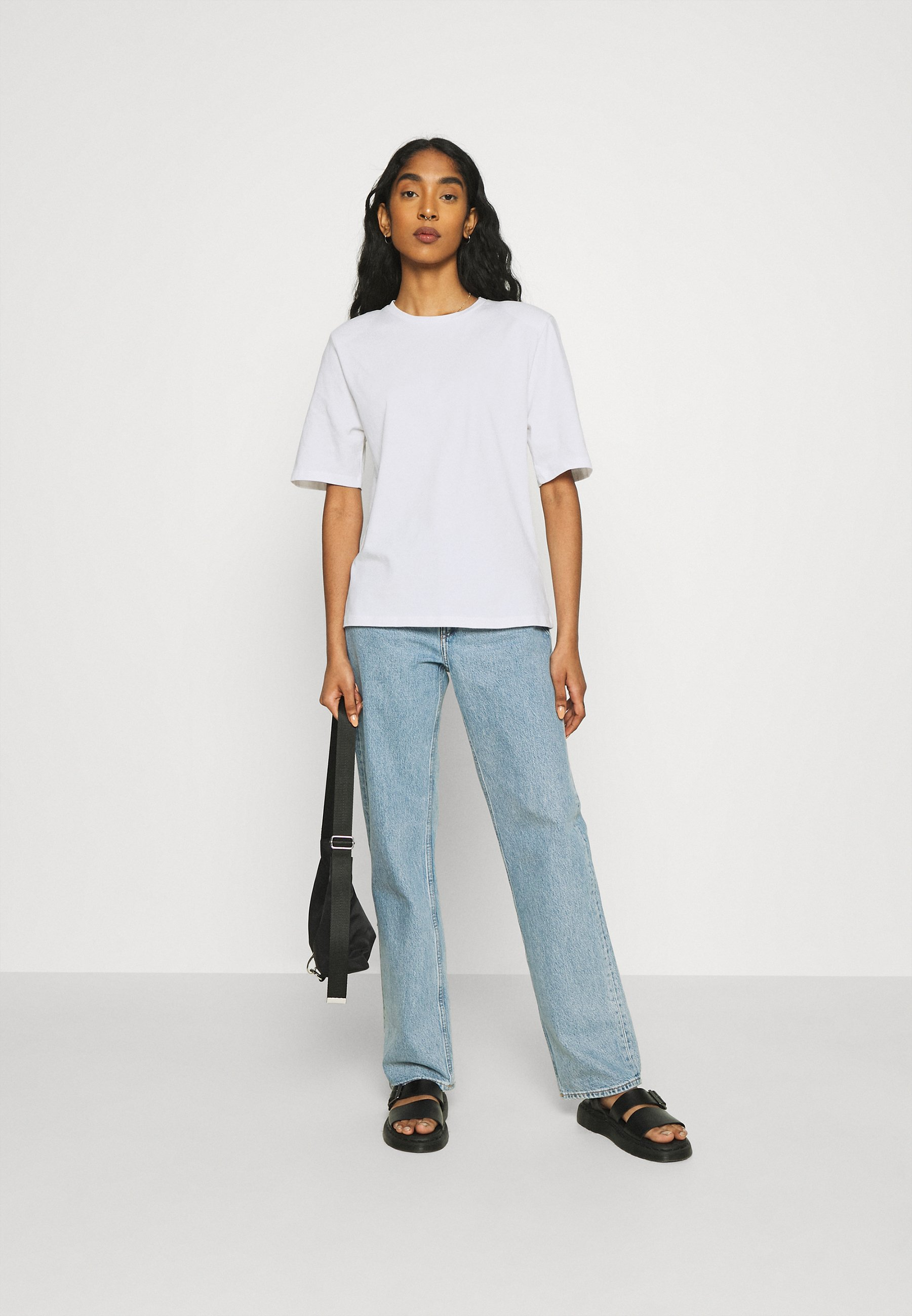 Women TARA SHOULDER PAD TEE - Basic T-shirt