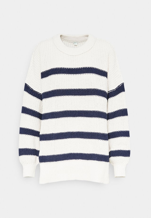 EXPOSED LINKING CREW - Pullover - natural