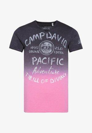Print T-shirt - anthra / new pink