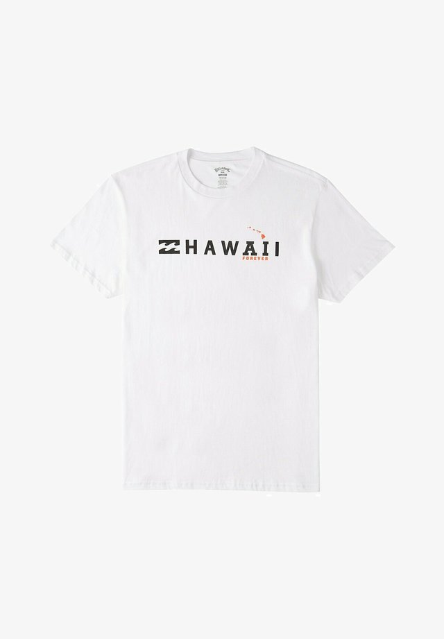 AI FOREVER HAWAII - Print T-shirt - white