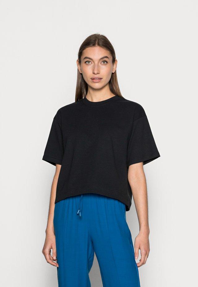 SLFFRAME O-NECK CROP TEE - T-shirt basic - black