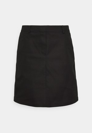ELASTIC AT BACK - A-line skirt - black