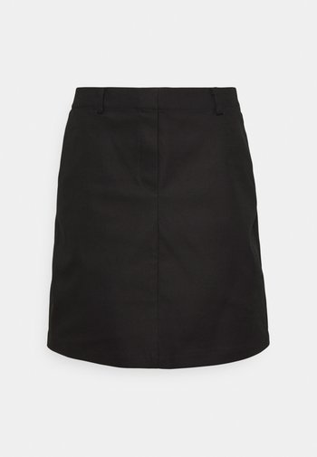 ELASTIC AT BACK - A-line skirt - black