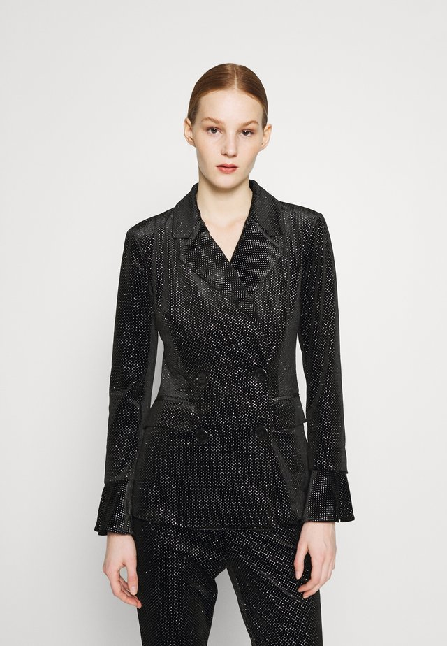 GLITTER DYNASTY JACKET - Blazer - black