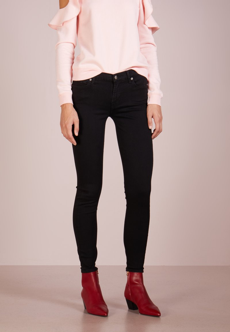 7 for all mankind - Jeans Skinny Fit - bair rinsed black