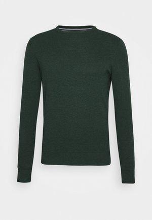 Trui - mottled dark green