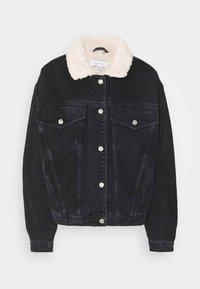 Topshop - BORG - Denim jacket - black - 0