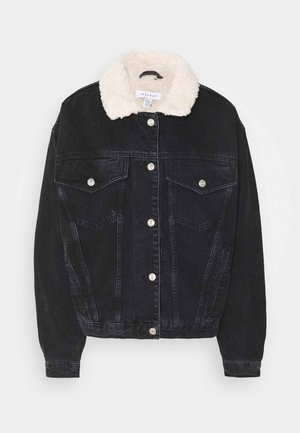 BORG - Denim jacket - black