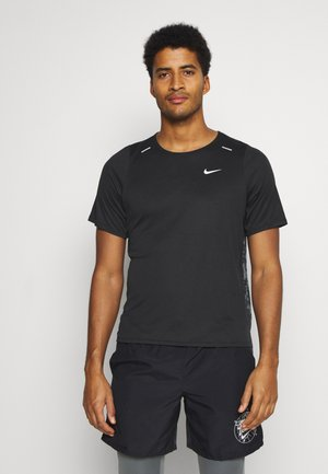 RISE 365 WILD RUN - Sports shirt - black/white