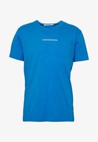 Calvin Klein Jeans - INSTIT CHEST TEE - Print T-shirt - coastal blue - 4
