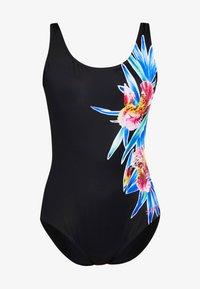 Zoggs - HYBRID TROPICS SCOOPBACK - Swimsuit - multi/black - 4
