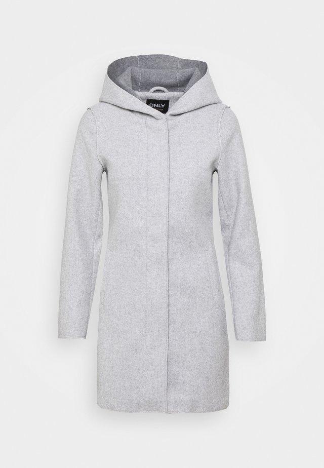 ONLSIRI BONDED HOOD COAT - Krótki płaszcz - light grey melange