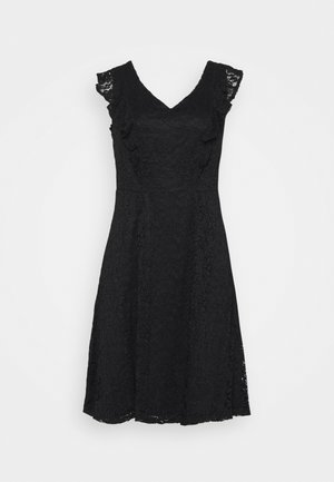 FIT AND FLARE DRESS - Day dress - black