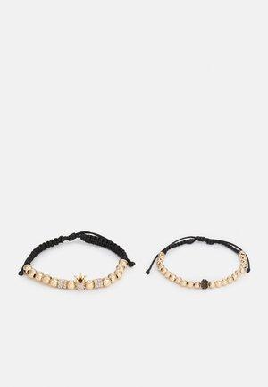 LYDIN 2 PACK - Bracelet - black/gold-coloured
