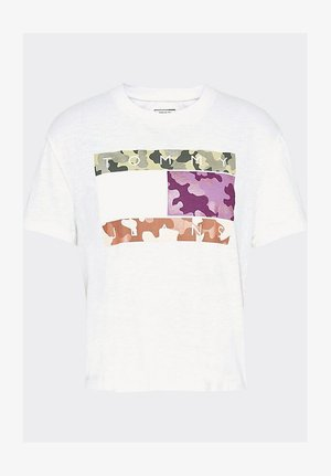 TJW CAMO FLAG TOMMY TEE - Print T-shirt - white