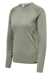 Hummel - HMLCI SEAMLESS  - Long sleeved top - vetiver melange - 6