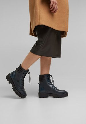 Lace-up ankle boots - dark teal green