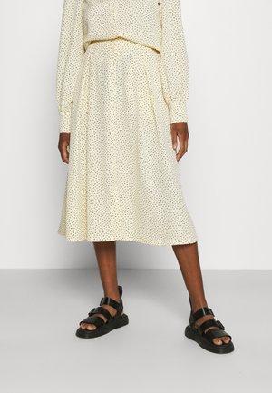 SIGRID BUTTON SKIRT - A-line skirt - yellow