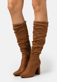 ONLY SHOES - ONLBRODIE LIFE BOOT - High heeled boots - cognac - 0