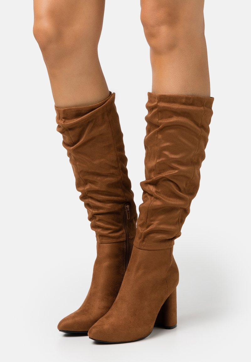 ONLY SHOES - ONLBRODIE LIFE BOOT - High heeled boots - cognac