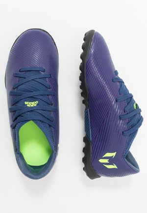 NEMEZIZ MESSI 19.3 TF - Astro turf trainers - tech indigo/signal green/glow purple