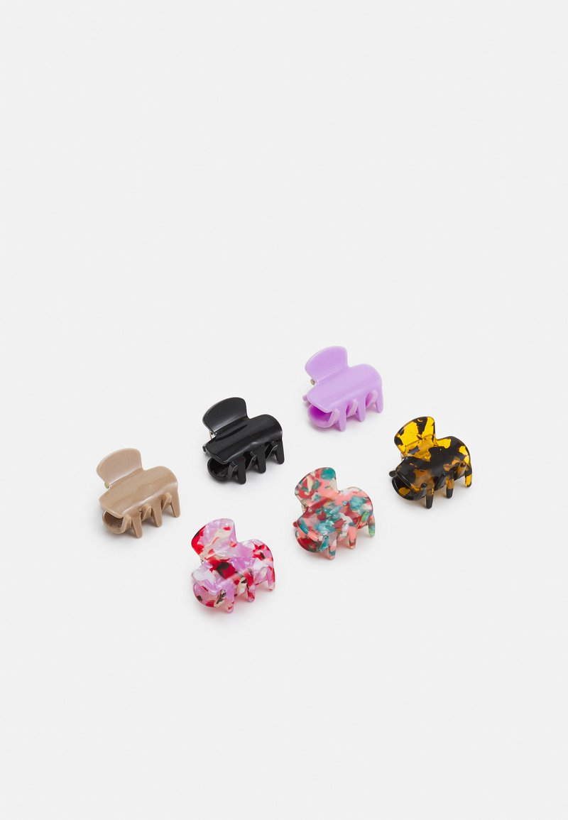 Pieces - PCSARINA MINI HAIR SHARK 6 PACK - Hair styling accessory - multicoloured