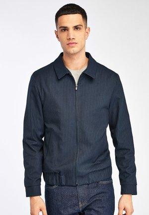 STRIPE ZIP THROUGH - Summer jacket - blue