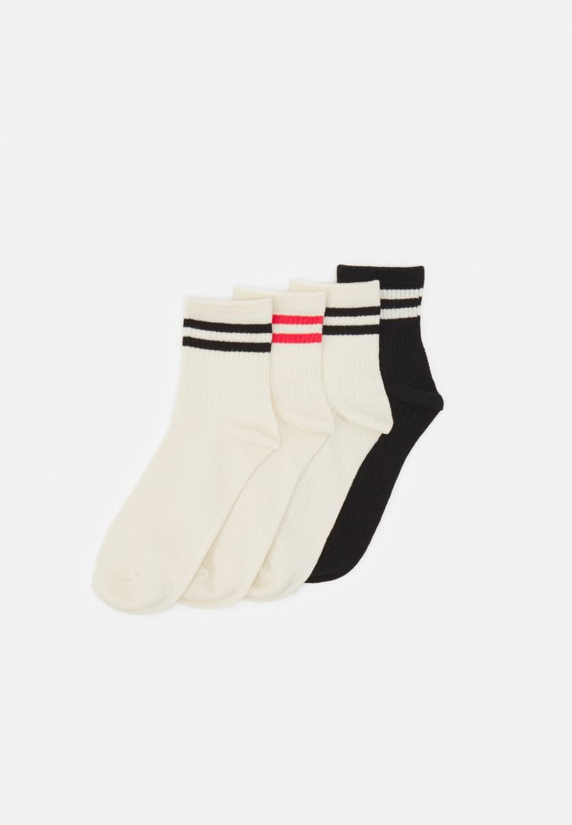 VMNEOMI SOCKS 4 PACK - Sokken - birch/black/coral