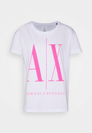 Print T-shirt - white/pink