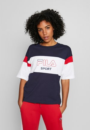 LALETTE TEE - Print T-shirt - black iris/bright white/true red