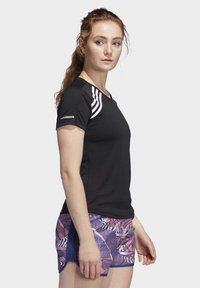 adidas Performance - 3-STRIPES RUN T-SHIRT - Print T-shirt - black - 3