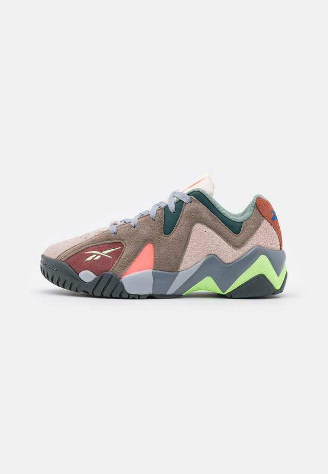 KAMIKAZE - Baskets basses - neon mint/boulder grey/true grey