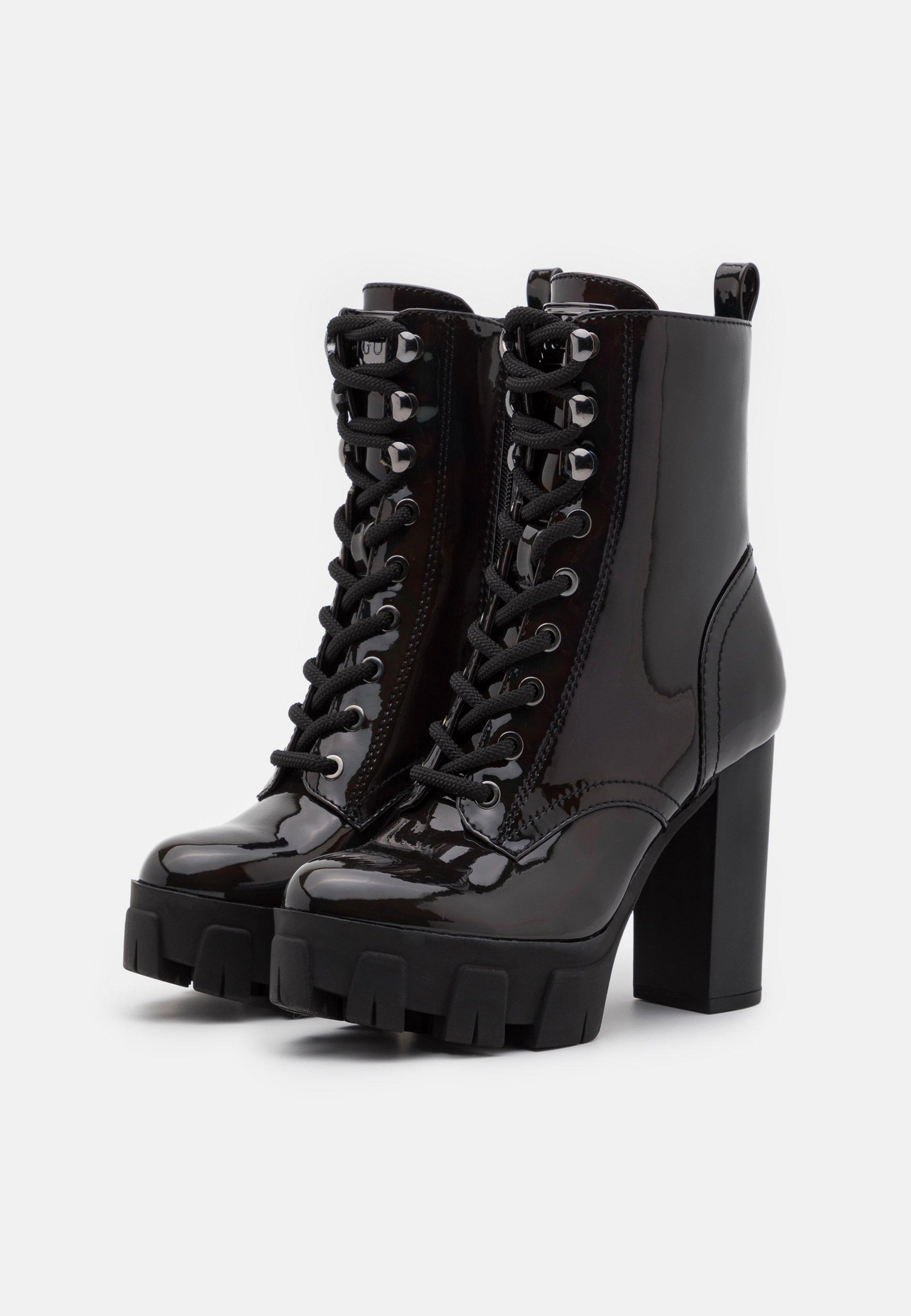 Guess Neesha - Snørestøvletter Black/svart