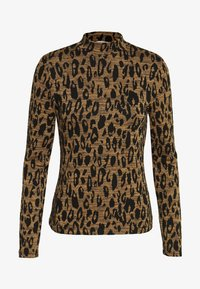 Whistles - HIGH NECK ANIMAL - Top s dlouhým rukávem - black/tan - 0