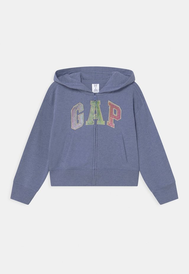 GIRLS LOGO - Zip-up hoodie - light blue heather