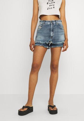 DE-MAAT-SP - Denim shorts - denim blue