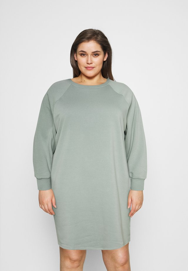 NMLUPA DRESS CURVE - Korte jurk - slate gray
