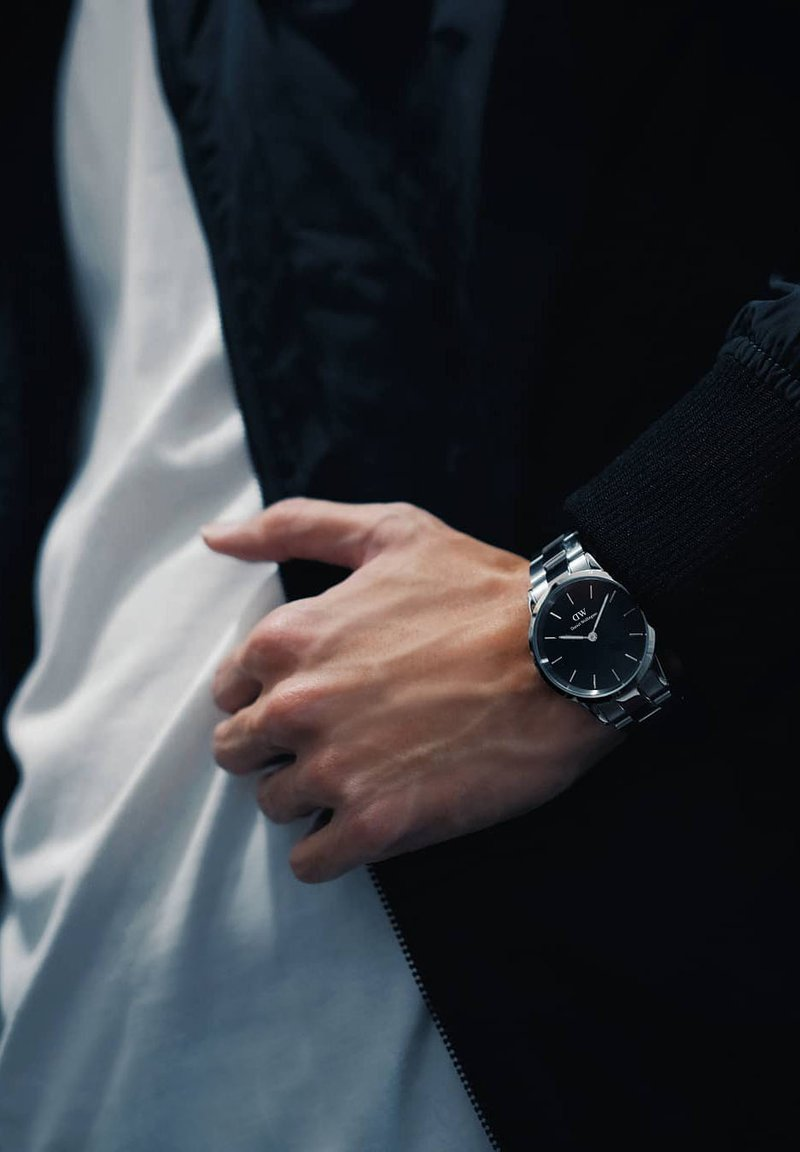 Daniel Wellington - ICONIC LINK 40MM - Watch - silver