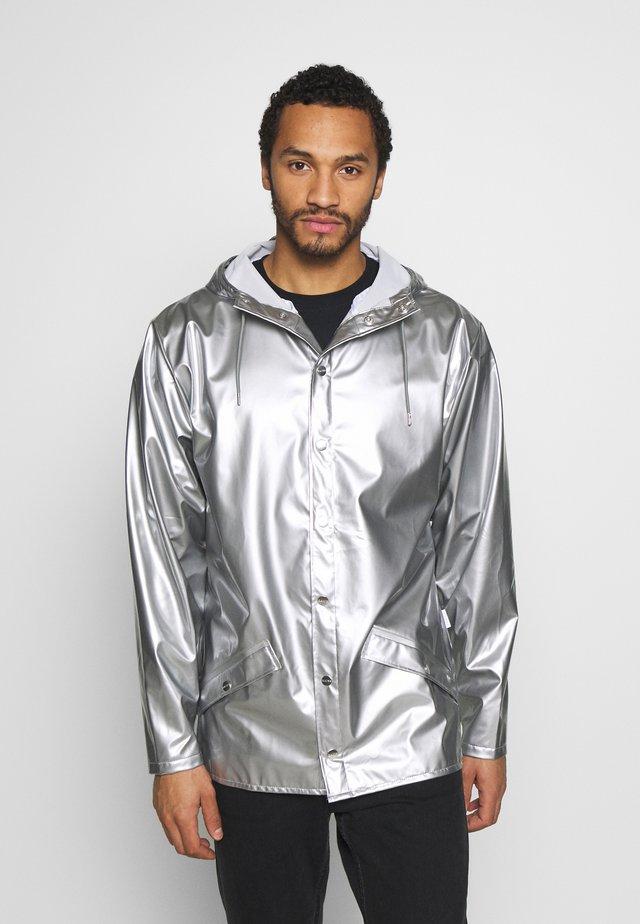 UNISEX JACKET - Waterproof jacket - silver