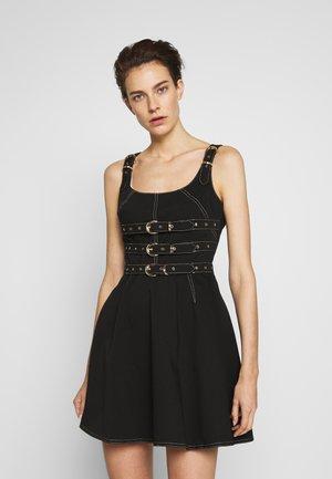 LADY DRESS - Denim dress - nero