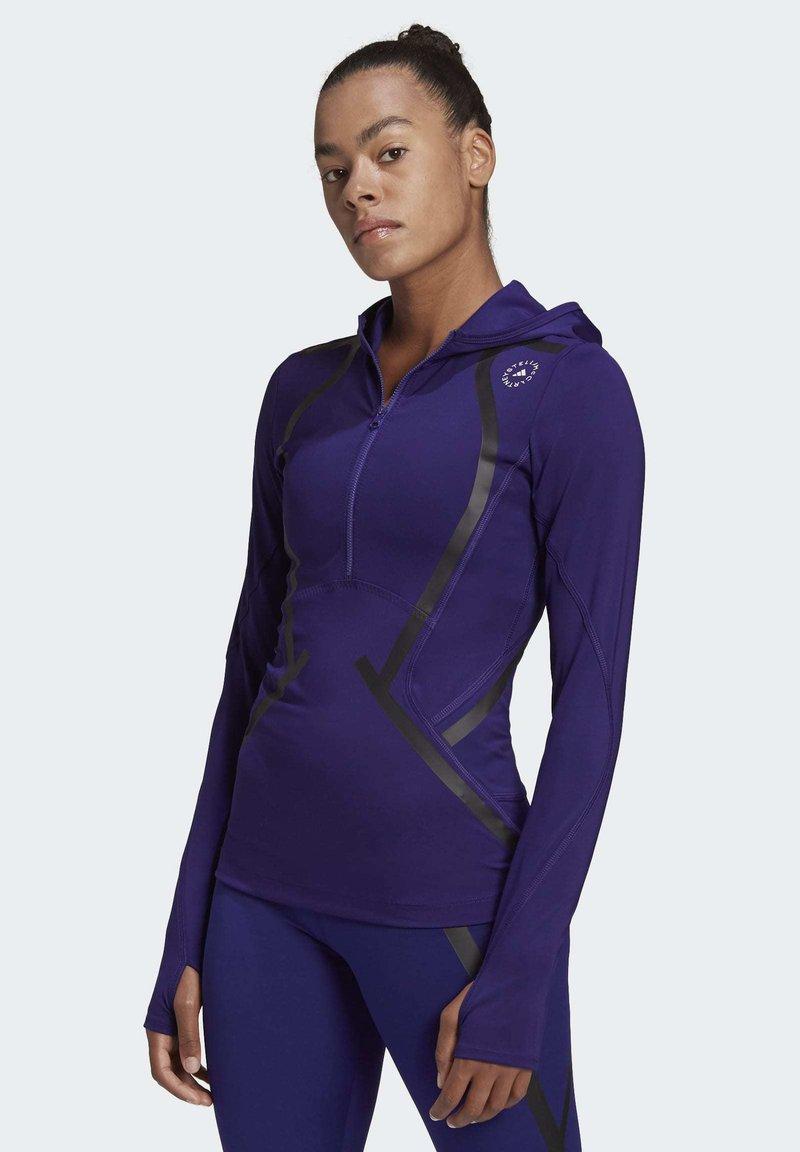 adidas by Stella McCartney - TRUEPACE HOODED LONG SLEEVE MIDLAYER TOP - Bluza z kapturem - purple