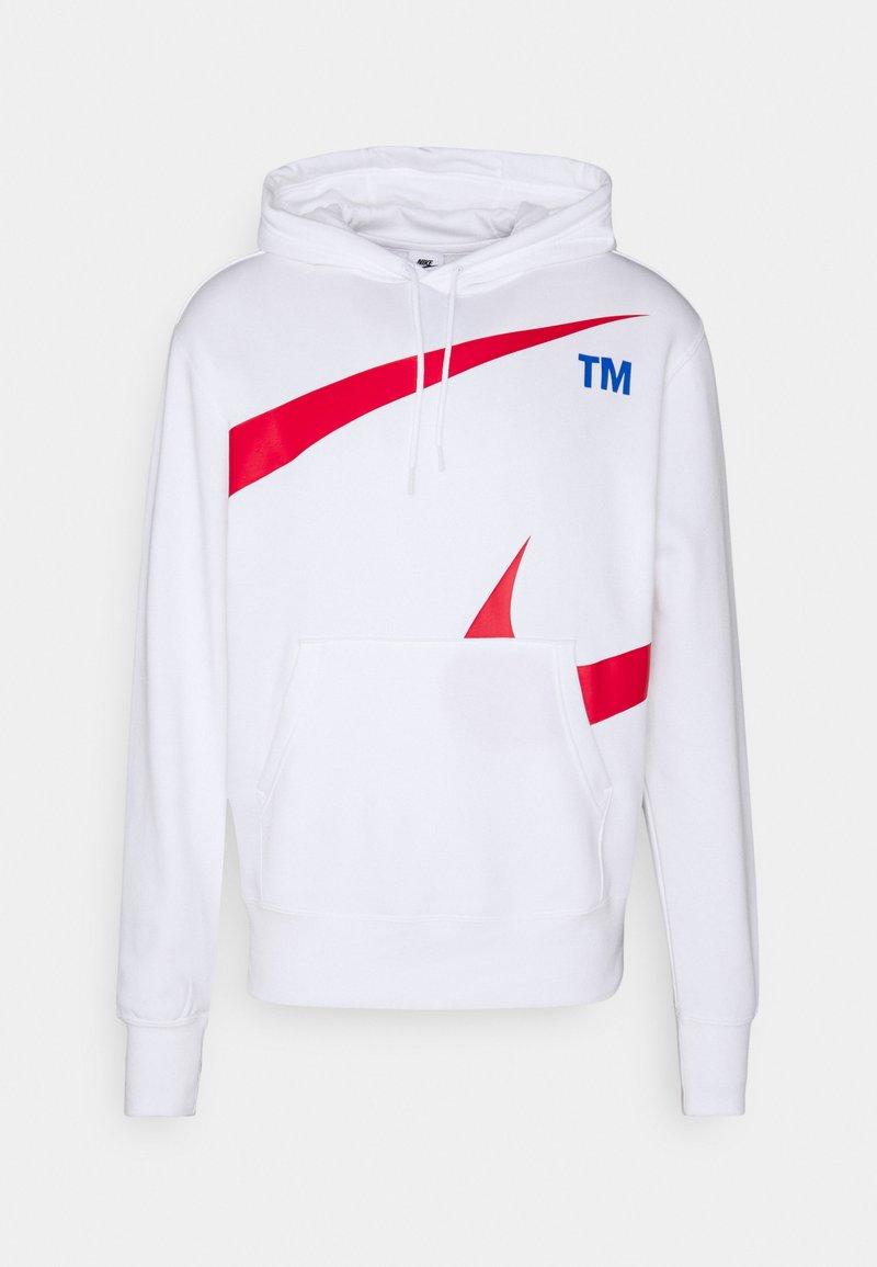 Nike Sportswear - HOODIE - Sweatshirt - white/university red